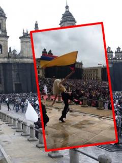 Imágenes que ilustran el baile de activistas queer en el  paro nacional.