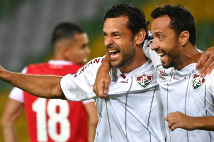 Santa Fe y Junior pierden ante Fluminense y River Plate en Copa Libertadores. Imagen de Fred, figura del 'Flu'.