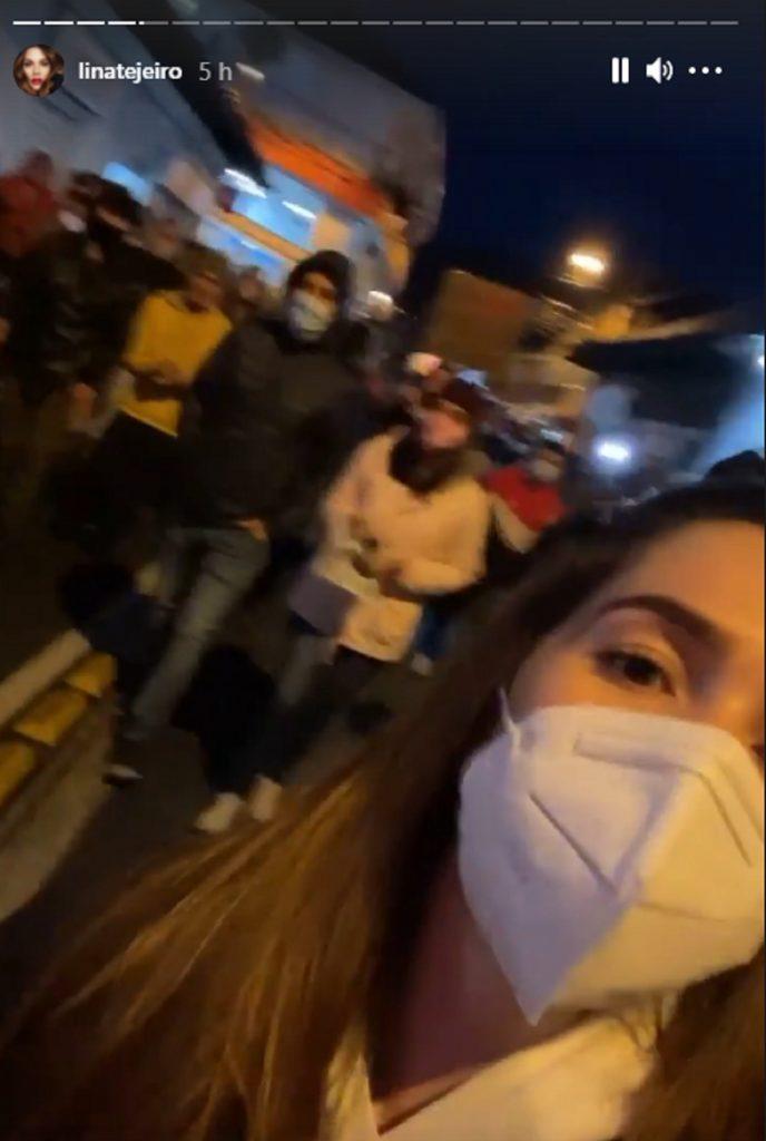 Lina Tejeiro salió a marchar