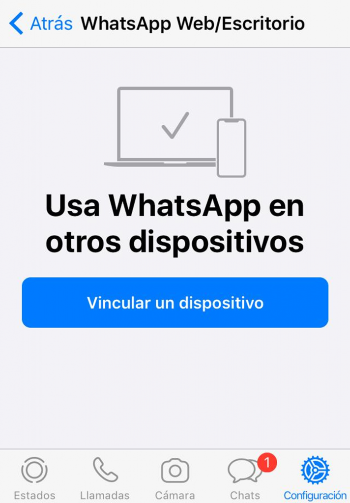 Captura de pantalla a WhatsApp