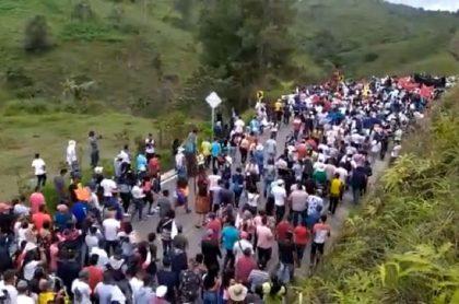 Paro nacional: campesinos de Anorí protestarán hasta dialogar con Gobierno