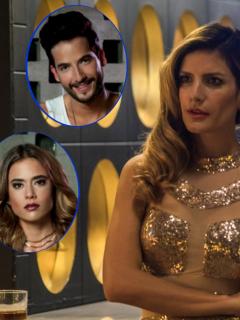Carlos Torres, Carolina Ramírez y Mabel Moreno en 'La reina del flow', a propósito de nota sobre quién mató a Gema, pues no fue ni Charly ni Yeimy.