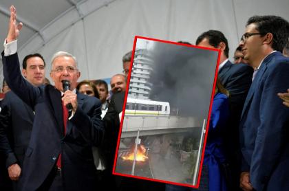 Álvaro Uribe, expresidente de Colombia, que publicó video viejo de protestas.