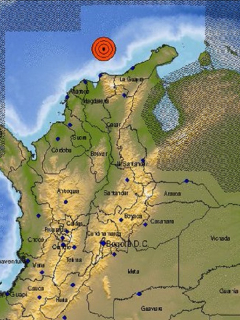 El Servicio Geológico Colombiano informó que el sismo ocurrió frente a la costa Caribe colombiana.