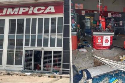 Supermercados saqueados en Barranquilla en medio de protestas del paro nacional