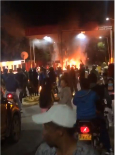 Videos de enfrentamientos entre manifestantes y Esmad en peaje Palmira – Cali.