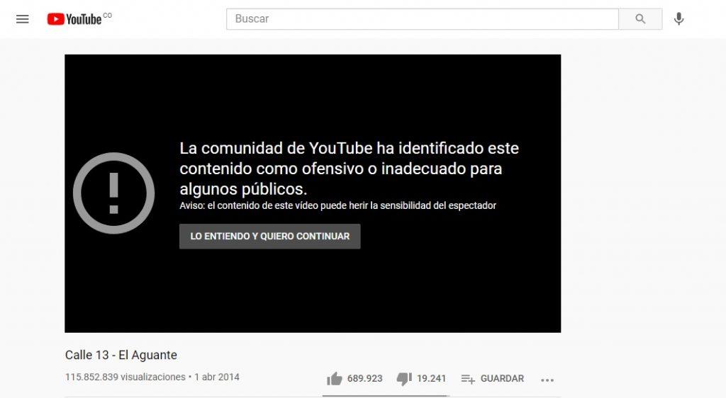 Captura de pantalla YouTube.