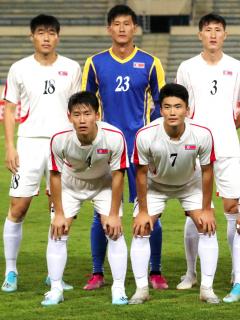 Corea del Norte se retira de las eliminatorias para el mundial de Catar 2022. Imagen del conjunto asiático.