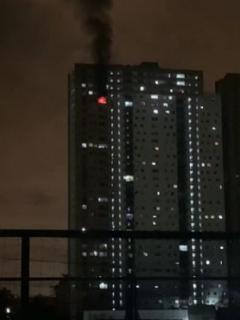 Apartamento en donde se produjo un incendio, en Bello, y que dejó a una persona de nacionalidad norteamericana muerta