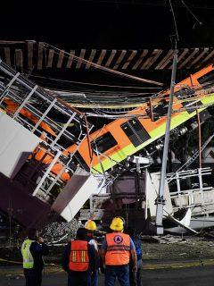 Metro de Ciudad de México que se desplomó y dejó más de 20 muertos