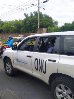 Una comisión de Derechos Humanos de la ONU habría recibido varios disparos por parte de la fuerza pública en Cali.