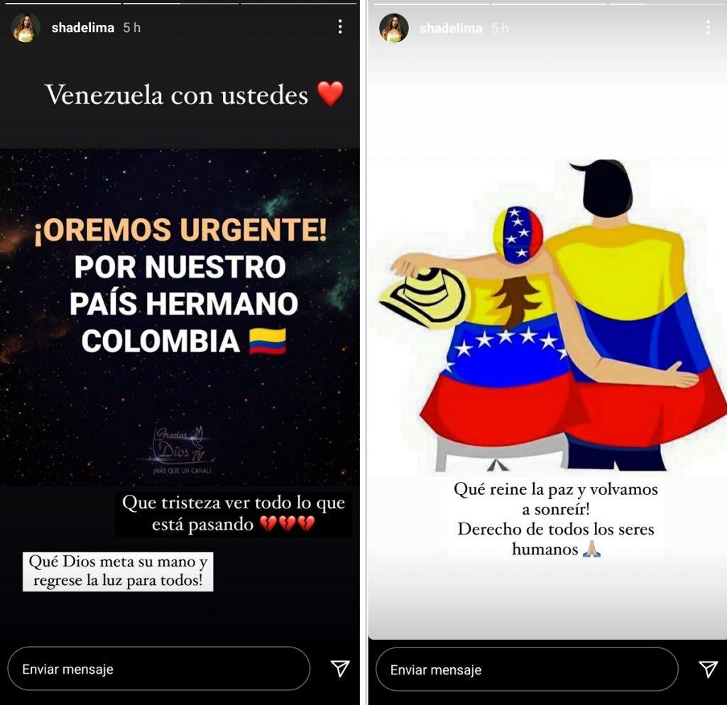 Capturas de pantalla historias Instagram shadelima.