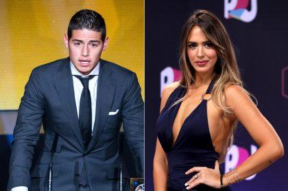 James Rodríguez en gala de la Fifa 2015 y Shannon de Lima en The Hottest Musical Artists 2017, ilustran nota sobre mensajes que la modelo venezolana dedicó a Colombia por paro nacional.