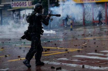 Esmad, que seguirá usando balas de goma en disturbios del paro nacional