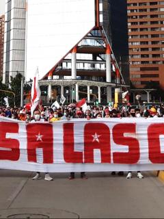 Barristas de Santa Fe piden no jugar ante River Plate en Copa Libertadores. Imagen de los hinchas.