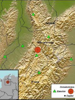 Imagen del sitio en donde se registró un temblor este martes 4 de mayo, en Los Santos, Santander