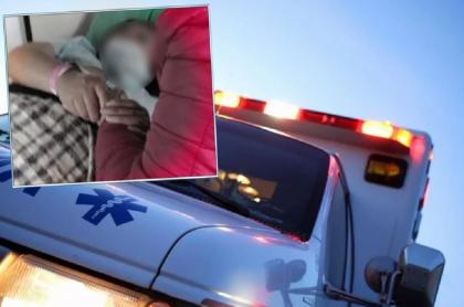 Imagen de la mujer embarazada cuyo bebé falleció en el vehículo, que fue atacado en medio de las manifestaciones en Tocancipá