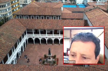 Imagen de Universidad del Rosario y foto del profesor que censuró a una alumna y que fue despedido