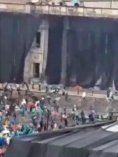 Ataques al Congreso de la República durante paro nacional este 5 de mayo
