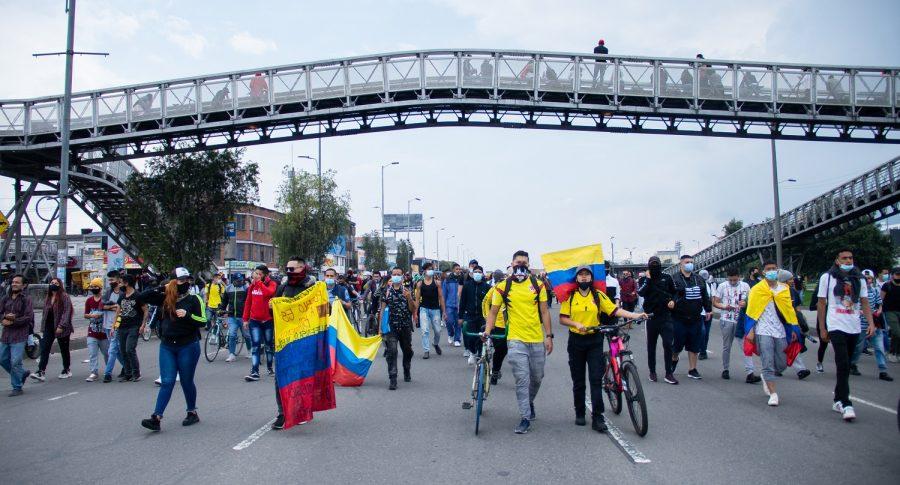 Avanza el paro en Bogotá