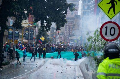 Marchas del paro nacional, en Bogotá