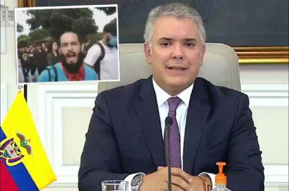 Iván Duque se refiere al caso de Lucas Villa, estudiante baleado en Pereira