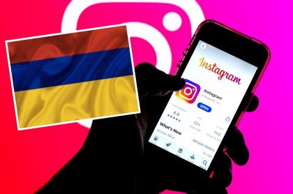Instagram y bandera de Colombia, país en el que están siendo eliminadas las historias del paro nacional