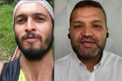Carlos Maya, alcalde de Pereira, y Lucas Villa, estudiante baleado en marcha en Pereira