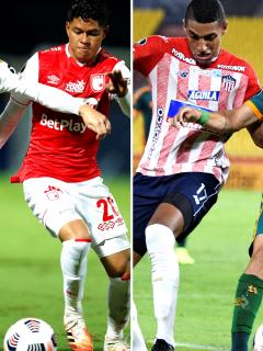 Empates en Santa Fe-River Plate y Junior-Fluminense por Copa Libertadores. Fotomontaje: Pulzo.