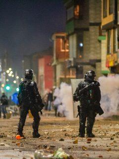 Enfrentamientos con Esmad ilustra nota sobre herido que quedó en Las Américas, sur de Bogotá