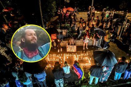 Lucas Villa, que salió de cirugía, y protesta pacífica