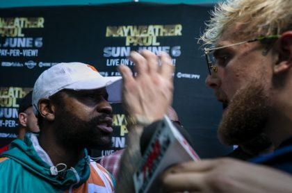 Jake Paul y Floyd Mayweather tuvieron encontronazo durante promoción de pelea