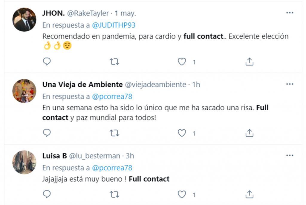 Captura de pantalla a Twitter
