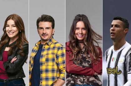 Sebastián Martínez, Juliette Pardau, Carlos Camacho y Alejandra Ávila, actores, y Cristiano Ronaldo, futbolistas, a propósito de listado de parejas y exparejas de actores de 'Pa' quererte'.