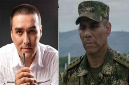 Matador y el general Zapateiro, que discuten por unos chats que el caricaturista publicó