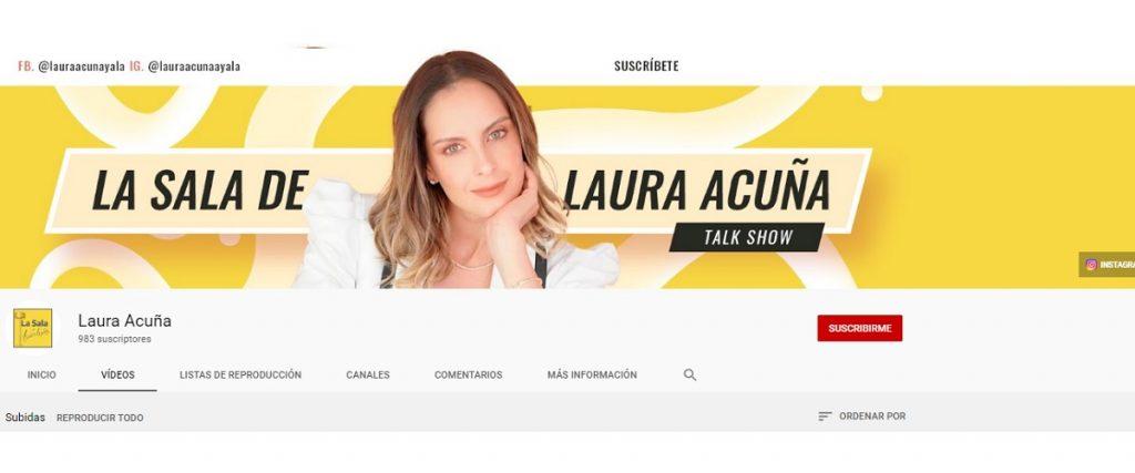 Captura de pantalla YouTube Laura Acuña.