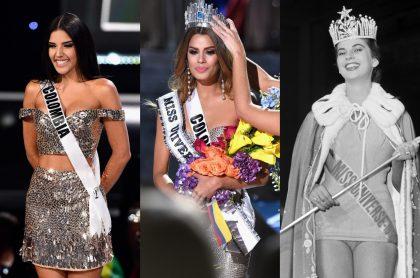 Foto d Laura González, Ariadna Gutiérrez y Luz Marina Zuluaga, a propósito de cómo lucen las Miss Universo