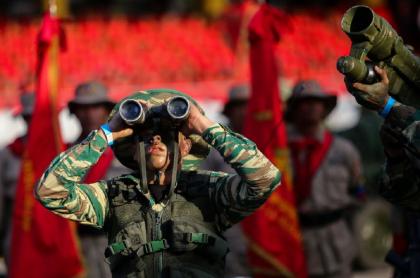 Militares venezolanos, como los secuestrados por las disidencias de las Farc en frontera con Colombia.