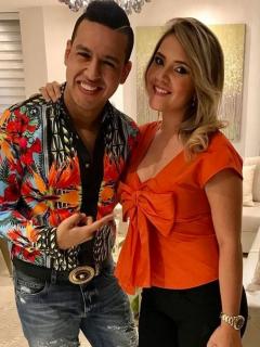 Martín Elías, fallecido cantante, y Dayana Jaimes, viuda del cantante
