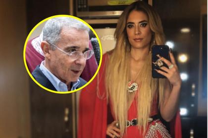 Álvaro Uribe y Carolina Ramírez, protagonista de 'La reina del flow' , que pidió que se suspenda el Twitter del expresidente