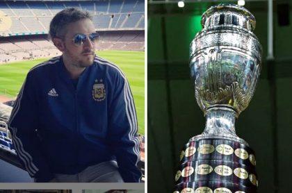 Pablo Carrozza, periodista argentino que atacó una vez más a Conmebol por insistir en que Copa América se juegue en Colombia