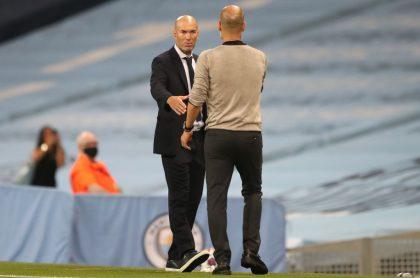 Foto de Pep Guardiola y Zinedine Zidane ilustra nota sobre cambios en los estilos de jugadores