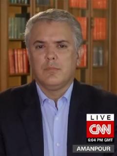 Entrevista de Iván Duque en CNN sobre militarización durante paro nacional