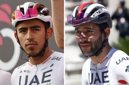 Fernando Gaviria y Sebastián, compañeros en el Giro de Italia que según una ciclista colombiana no tienen buena relación entre ellos