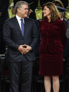 Foto de Iván Duque y Marta Lucía Ramírez, a propósito de cuánto ganan