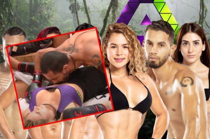 Imágenes que ilustran la escena de 'Olímpico' y Paola en el Desafío.