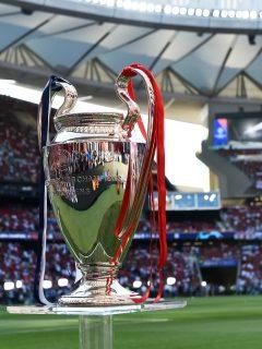 Imagen de trofeo de Champions League: cuya final se muda a Oporto, en Portugal