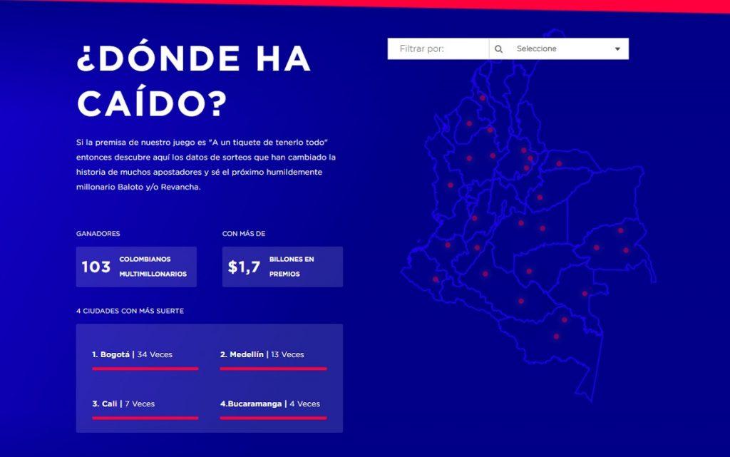 Captura de pantalla www.baloto.com