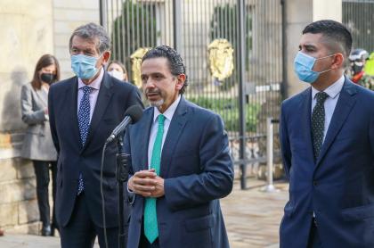 El comisionado de Paz, Miguel Ceballos.
