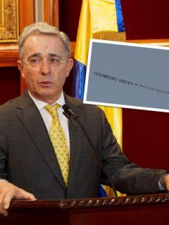 Álvaro Uribe y mensaje en contra que sobrevoló en Miami